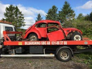 hämtning av bil för skrotning gratis i Göteborg