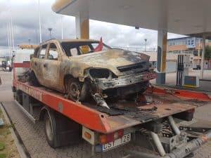 Skrota utbränd bil, Om din bil har brunnit och du väljer att skrota den, är det möjligt att du inte får någon ersättning för bilen.