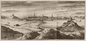 Göteborg namn ursprung. Då Göteborg skapades pågick krig med Norge och Danmark. Detta föranledde att befästningar försenades eller förstördes av anfallarna.