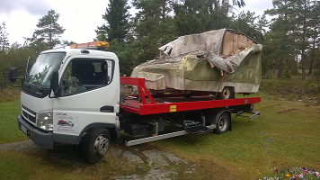 Skrota husvagn i Tranemo