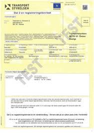 Registreringsbevis för skrotning av bil i Skara